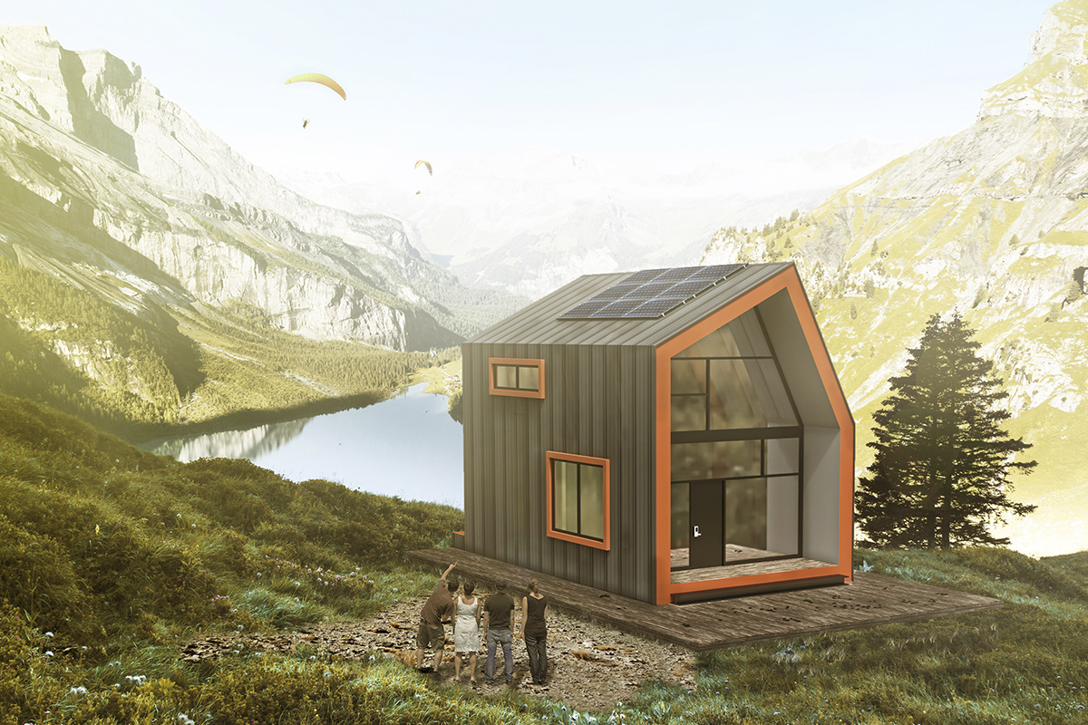 Eco house in the mountain