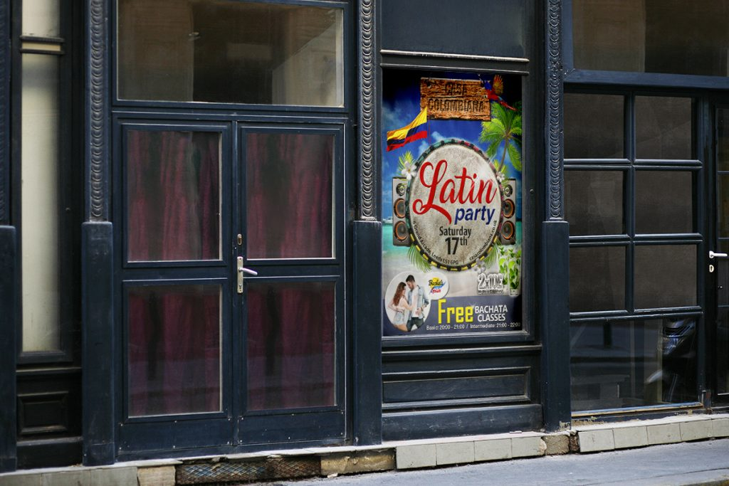 Poster latin party