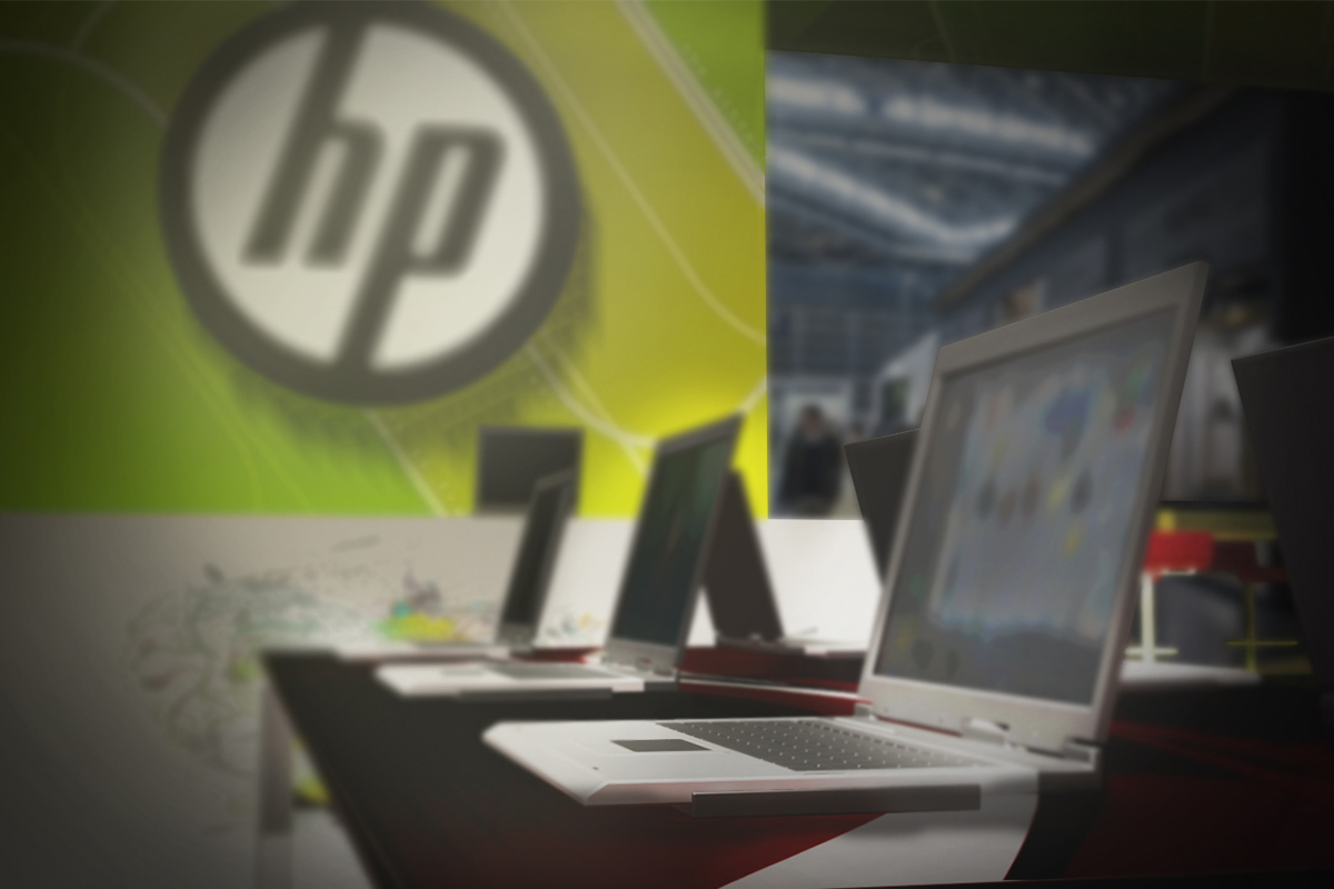 Stand HP laptops view