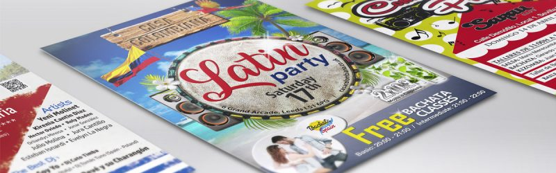 Posters Latin party